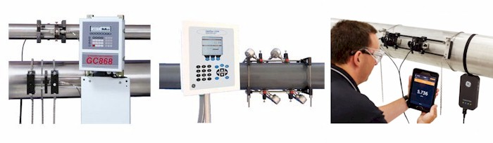 Ultrasonic Clamp-On Gas Flowmeters